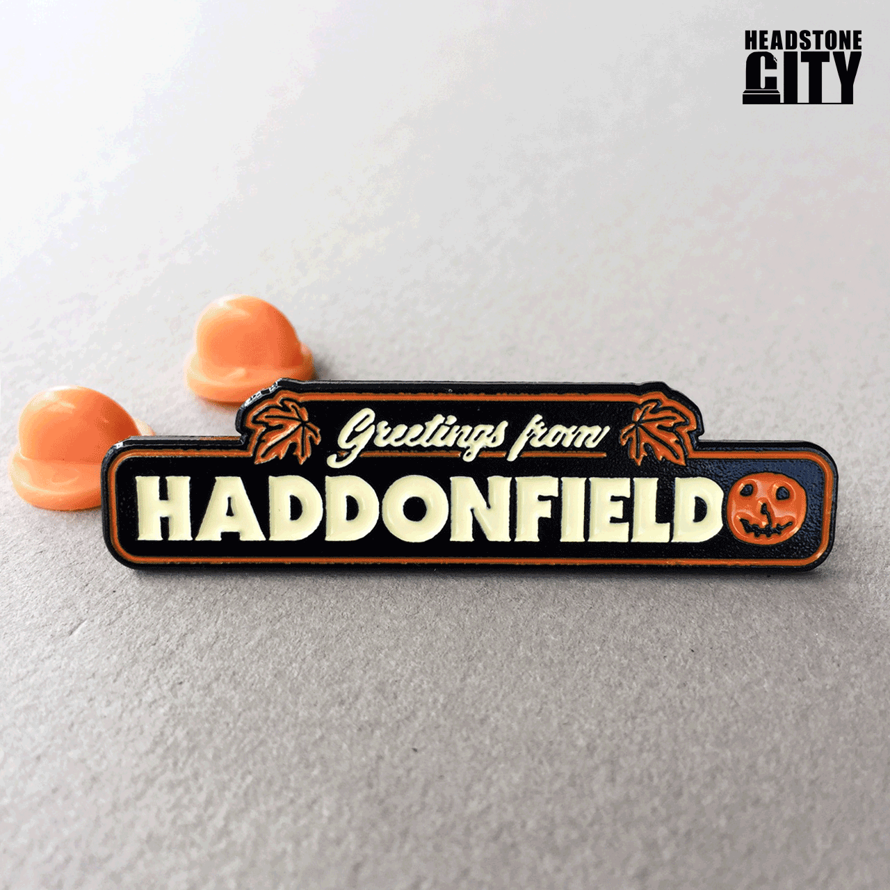 Greetings from Haddonfield Halloween Enamel Pin