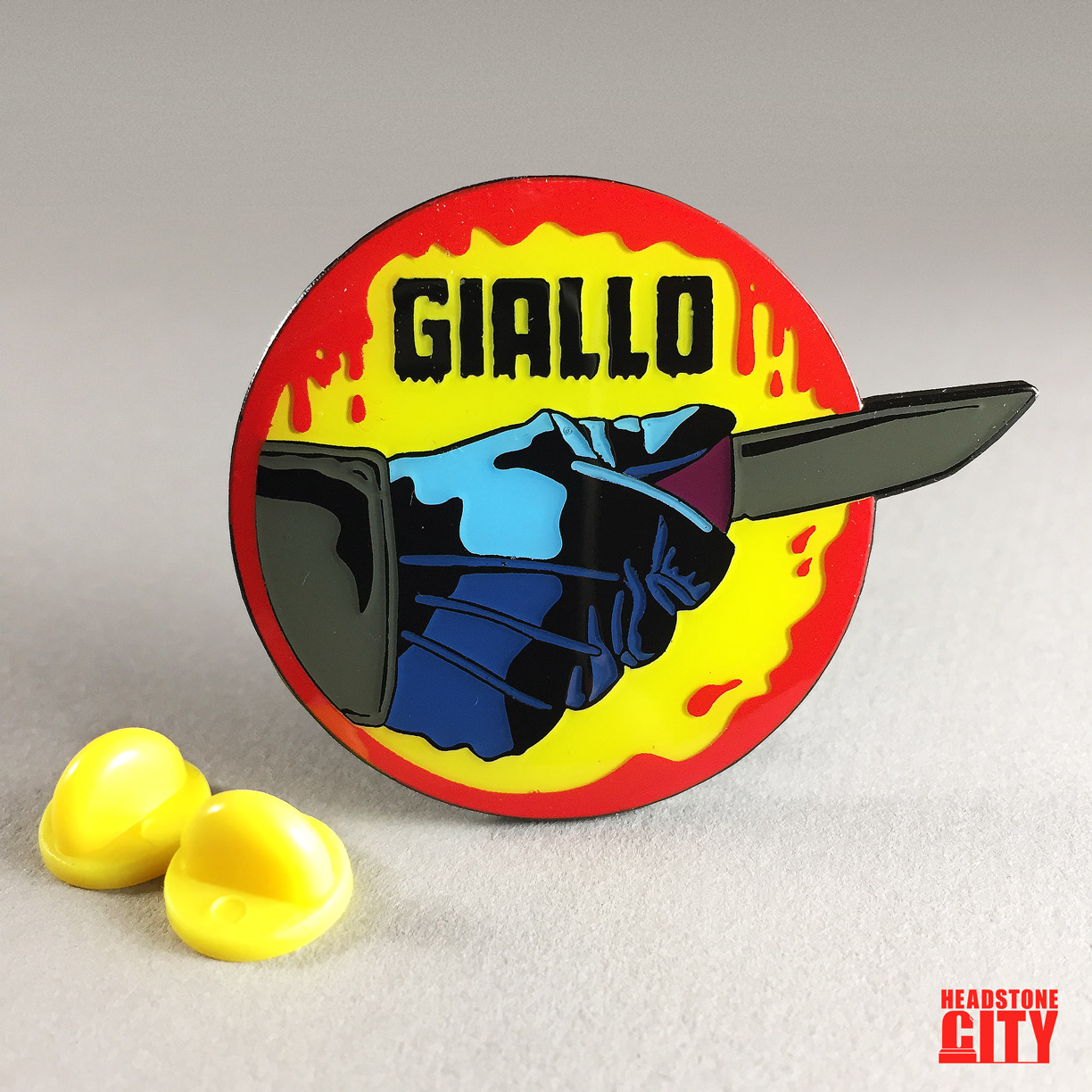 Giallo-Horror-Enamel-Pin